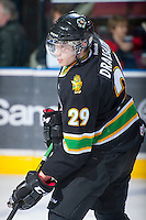 KELOWNA, CANADA - JANUARY 26: Leon Draisaitl #29 of the Prince Albert Raiders skates on the ice during warm up at the Kelowna Rockets on January 26, 2013 at Prospera Place in Kelowna, British Columbia, Canada (Photo by Marissa Baecker/Shoot the Breeze) *** Local Caption ***