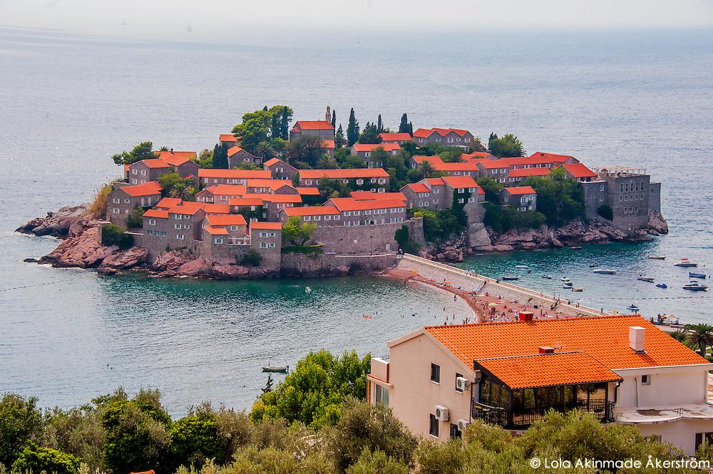 Scenes from Sveti Stefan Island