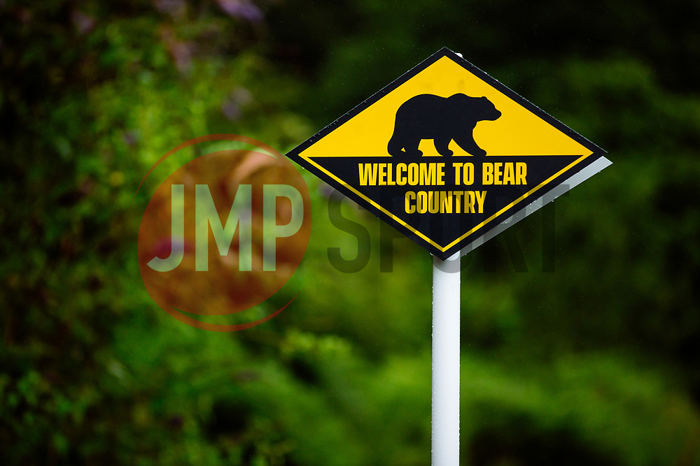 """""""Welcome to Bear Country"""" signs as Bristol Bears start to use their new almost completed Training centre - Rogan/JMP - 08/07/2020 - RUGBY UNION - Beggar Bush Lane - Bristol, England."""