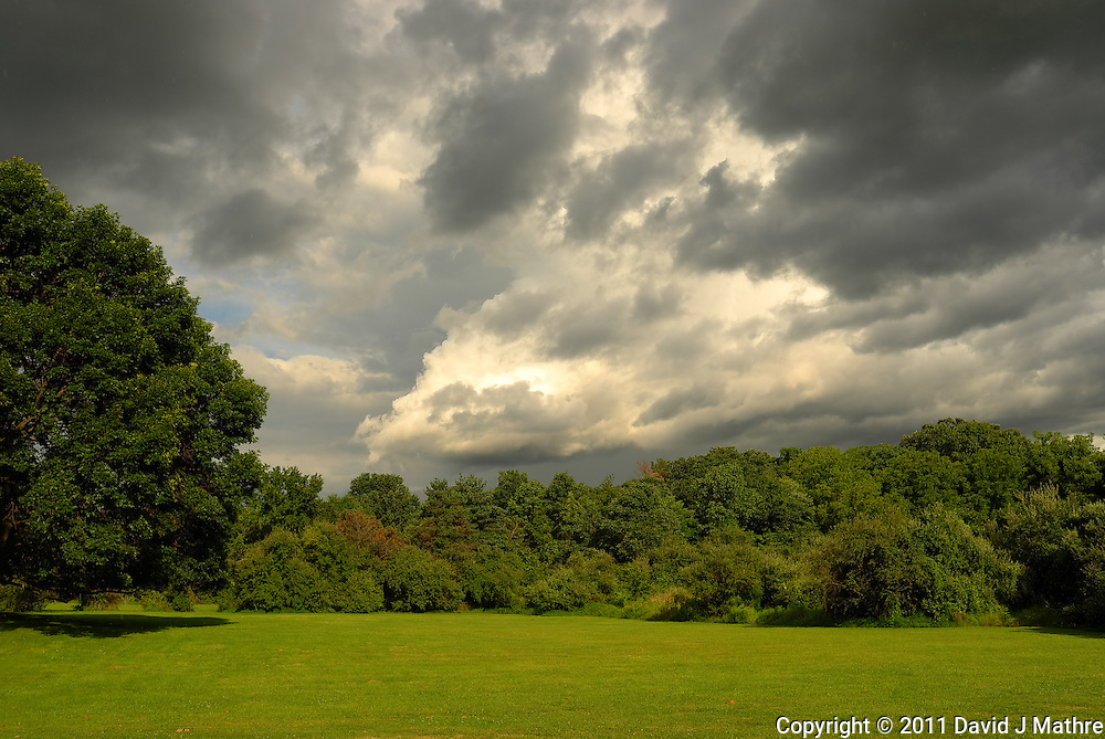 Storm Departing -- Backyard Summer Landscape. Image taken with a Leica X1 (ISO 100, 24 mm, f/5.6. 1/800 sec). Out of the camera JPG.