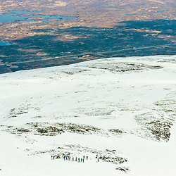Competitors gather before the Freeride World Tour Coe Cup in Glencoe (c) ROSS EAGLESHAM | Sportpix.co.uk