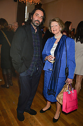 The 4th VISCOUNT WIMBORNE and ? at a party to celebrate the publication on 'The Ape Has Stabbed Me' by Vincent Poklewski Koziell held at The Polish Club, 55 Exhibition Road, London on 1st May 2014.