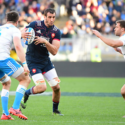 Yoann Maestri of France takes on the Italy defence during the RBS Six Nations match between Italy and France at Olimpico Stadium on March 11, 2017 in Rome, Italy. (Photo by Dave Winter/Icon Sport)