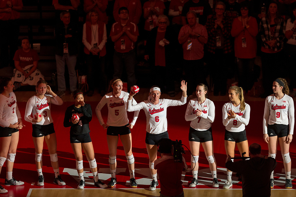 during Nebraska's 3-0 win over Penn State at the Bob Devaney Sports Center in Lincoln, Neb. on Nov. 16, 2016. Photo by Aaron Babcock, Hail Varsity