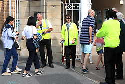 Spectators arrive during day five of the Specsavers Third Test match at Trent Bridge, Nottingham.