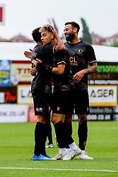 Mansfield Town players celebrate - Mandatory by-line: Ryan Crockett/JMP - 28/07/2018 - FOOTBALL - One Call Stadium - Mansfield, England - Mansfield Town v Rotherham United - Pre-season friendly