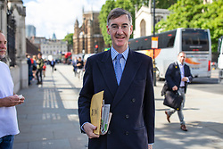 © Licensed to London News Pictures. 20/06/2019. London, UK. Jacob Rees-Mogg MP walks in to Parliament beforevoting in the leadership campaign. The final two candidates will be put to the party membership in a ballot. Photo credit: Rob Pinney/LNP