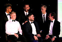 Bristol City head coach Lee Johnson and Bristol City chief operating officer Mark Ashton are interviewed alongside Aaron Wilbraham, Hordur Magnusson, George Dowling and Lloyd Kelly of Bristol City - Mandatory by-line: Robbie Stephenson/JMP - 08/12/2016 - SPORT - Ashton Gate - Bristol, England  - Bristol Sport Gala Dinner