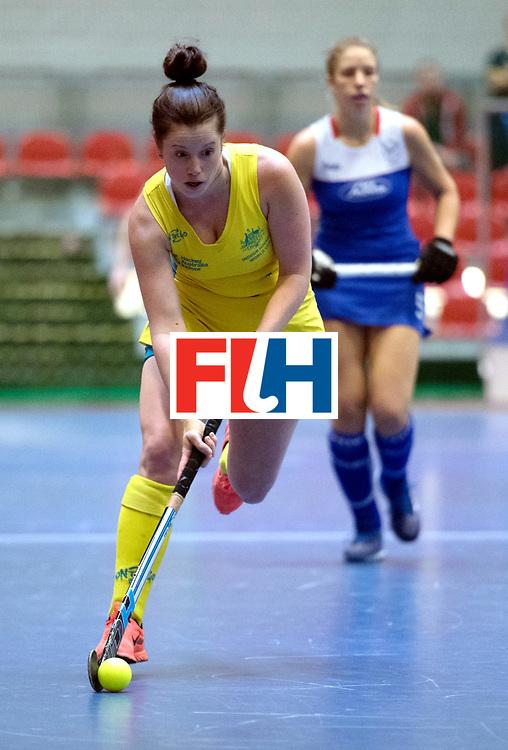 BERLIN - Indoor Hockey World Cup<br /> Australia - Namibia<br /> foto: FARRELL Lisa<br /> WORLDSPORTPICS COPYRIGHT FRANK UIJLENBROEK