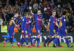 November 29, 2017 - Barcelona, Catalonia, Spain - Aleix Vidal goal celebration during the Copa del Rey match between FC Barcelona v Real Murcia CF,i n Barcelona, on November 29, 2017. (Credit Image: © Joan Valls/NurPhoto via ZUMA Press)