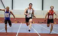 Friidrett<br /> UM innendørs<br /> Ranheimhallen 12.03.11<br /> Alexander Dahlstrøm Winger vinner 60m på ny pers 6.94<br /> <br /> Foto: Eirik Førde