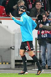23.11.2011, BayArena, Leverkusen, Germany, UEFA CL, Gruppe E, Bayer 04 Leverkusen (GER) vs Chelsea FC (ENG), im Bild Michael Ballack (Leverkusen #13) winkt seinen ehemaligen Teamkollegen // during the football match of UEFA Champions league, group E, between Bayer Leverkusen (GER) and FC Chelsea (ENG) at BayArena, Leverkusen, Germany on 23/11/2011.EXPA Pictures © 2011, PhotoCredit: EXPA/ nph/ Mueller..***** ATTENTION - OUT OF GER, CRO *****