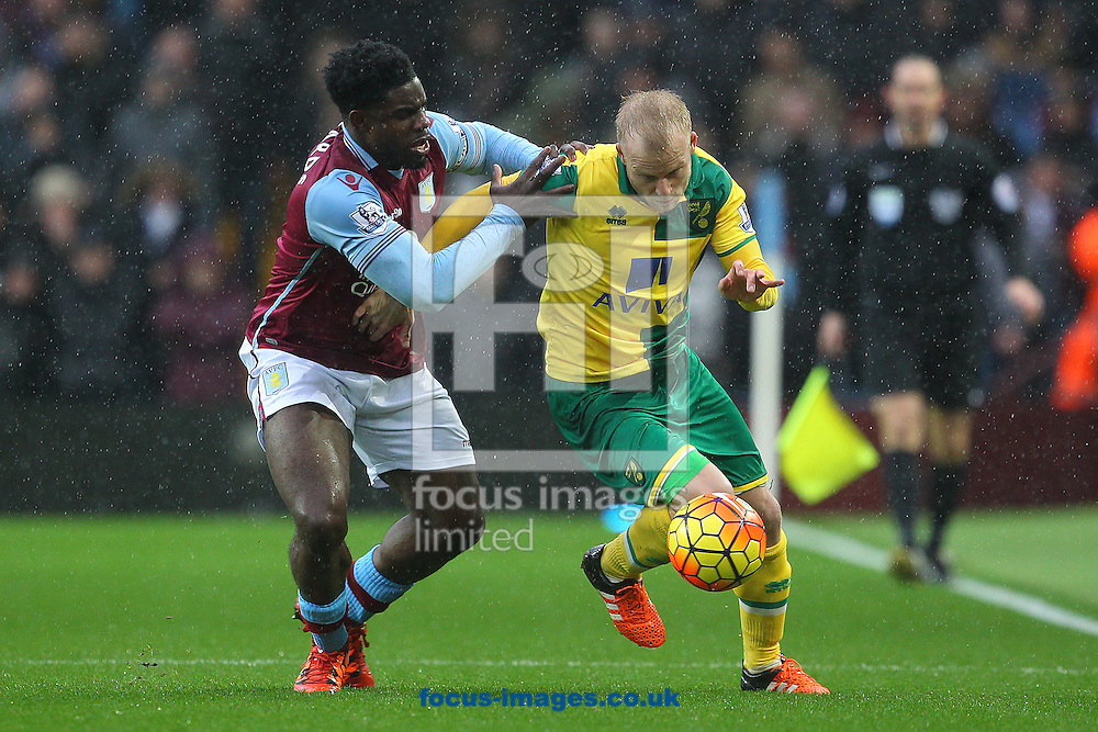 Steven Naismith of Norwich and Micah Richards of Aston Villa in action during the Barclays Premier League match at Villa Park, Birmingham<br /> Picture by Paul Chesterton/Focus Images Ltd +44 7904 640267<br /> 06/02/2016