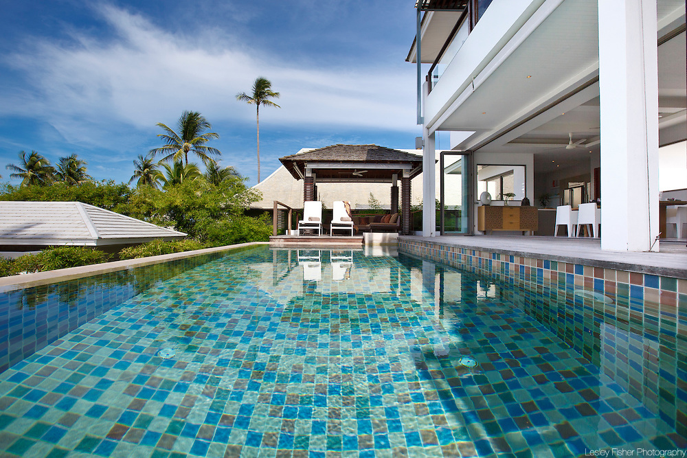 Swimming pool and terrace of Upper Villa, Inasia Villa, Lipa Noi, Koh Samui, Thailand