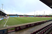 A general view of Scunthorpe United Glanford Park before the EFL Sky Bet League 2 match between Scunthorpe United and Colchester United at Glanford Park, Scunthorpe, England on 14 December 2019.