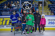 KELOWNA, CANADA - FEBRUARY 19:  Rocky Raccoon at the CIBC Family Skate with the Kelowna Rockets on February 19, 2018 at Prospera Place in Kelowna, British Columbia, Canada.  (Photo By Cindy Rogers/Nyasa Photography,  *** Local Caption ***