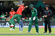 Mashrafe Mortaza (c) of Bangladesh bowling during the ICC Cricket World Cup 2019 match between Pakistan and Bangladesh at Lord's Cricket Ground, St John's Wood, United Kingdom on 5 July 2019.