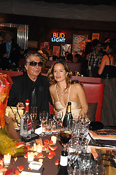 ROBERTO CAVALLI and JADE JAGGER at the London Red Cross Ball themed 'Honky Tonk Blues' held at 99 Upper Ground, London SE1 on 21st November 2007.<br />