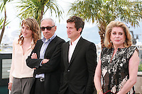 Adèle Haenel, André Téchiné , Guillaume Canet and Catherine Deneuve at the photo call for the film L'Homme qu'on aimait trop (In the Name of My Daughter) at the 67th Cannes Film Festival, Wednesday 21st  May 2014, Cannes, France.