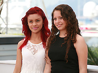 Actress Leidi Gutierrez and Nancy Talamantes at The Chosen Ones film photo call at the 68th Cannes Film Festival Monday May 18th 2015, Cannes, France.