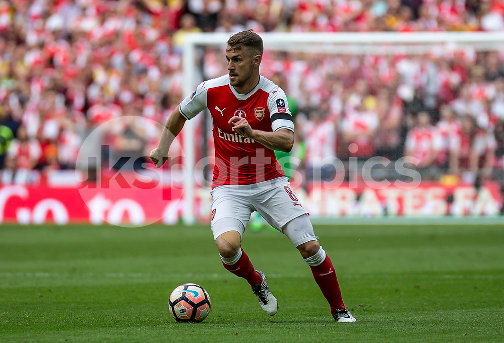 Aaron Ramsey of Arsenal during the Emirates FA Cup Final between Arsenal and Chelsea at Wembley Stadium, London, England on the 27th May 2017. Photo by Liam McAvoy.