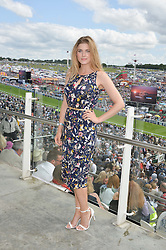 ASHLEY JAMES at the Investec Derby 2015 at Epsom Racecourse, Epsom, Surrey on 6th June 2015.