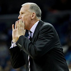 January 3, 2011; New Orleans, LA, USA; Philadelphia 76ers head coach Doug Collins during the first quarter of a game against the New Orleans Hornets at the New Orleans Arena.   Mandatory Credit: Derick E. Hingle
