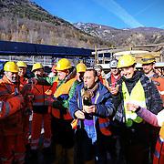 Chiomonte 22/12/2016  Delegazione parlamentari del Pd in visita al cantiere Tav Torino Lione nel giorno della ratifica dell'accordo internazionale