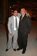 HON ANGAD PAUL AND  LORD PAUL . Dinner given by Established and Sons to celebrate Elevating Design.  P3 Space. University of Westminster, 35 Marylebone Rd. London NW1. -DO NOT ARCHIVE-© Copyright Photograph by Dafydd Jones. 248 Clapham Rd. London SW9 0PZ. Tel 0207 820 0771. www.dafjones.com.