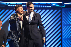 October 16, 2018 - Nashville, TN, U.S. - NASHVILLE, TN - OCTOBER 16: Cory Asbury wins Worship Song of the Year during the 49th Annual Dove Awards on October 16, 2018, at Allen Arena in Nashville, TN. (Photo by Jamie Gilliam/Icon Sportswire) (Credit Image: © Jamie Gilliam/Icon SMI via ZUMA Press)
