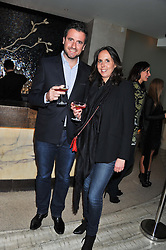MR & MRS JACQUES D'ARRIGO at the Matthew Williamson London Fashion Week Autumn/Winter 2012 After Party held at Nobu Berkeley, London on 19th February 2012.
