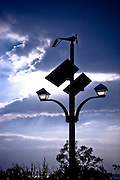 Solar-powered public lighting