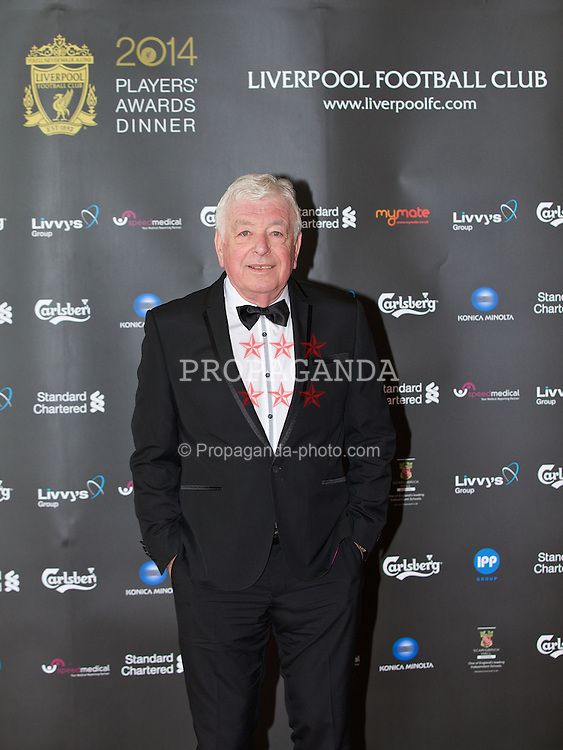 LIVERPOOL, ENGLAND - Tuesday, May 6, 2014: Former Liverpool player Ian Callaghan arrives on the red carpet for the Liverpool FC Players' Awards Dinner 2014 at the Liverpool Arena. (Pic by David Rawcliffe/Propaganda)