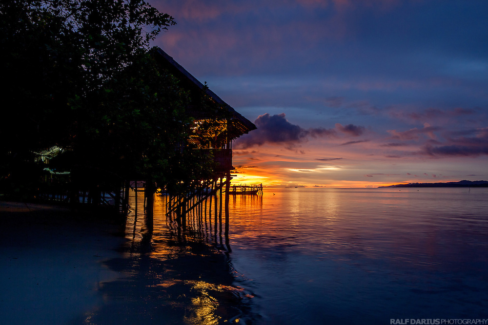 Sunset at Kri Eco Dive Resort in Raja Ampat - West Papua, Indonesia