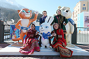 General view,l <br /> FEBRUARY 6, 2014 - : Sochi 2014 Olympic Winter Games at Rosa Khutorin  Sochi, Russia. <br /> (Photo by Yusuke Nakanishi/AFLO SPORT)
