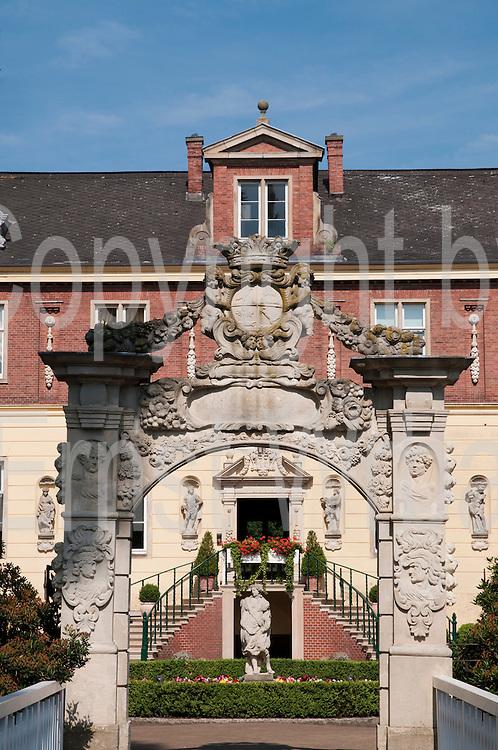 Wasserschloss, Schloss Dankern, Haren, Emsland, Niedersachsen, Deutschland.|.moated Castle Dankern, Haren, Emsland, Lower Saxony, Germany.
