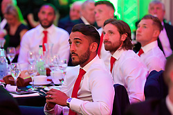 CARDIFF, WALES - Wednesday, June 1, 2016: Wales' Neil Taylor during a charity send-off gala dinner at the Vale Resort Hotel ahead of the UEFA Euro 2016. (Pic by David Rawcliffe/Propaganda)