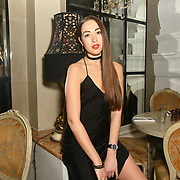 Chloe Adlerstein is a contestant attend The Bachelor UK 2019 launch night - The girls private screening on Channel 5 at Beach Blanket Babylon on 4 March 2019, London, UK