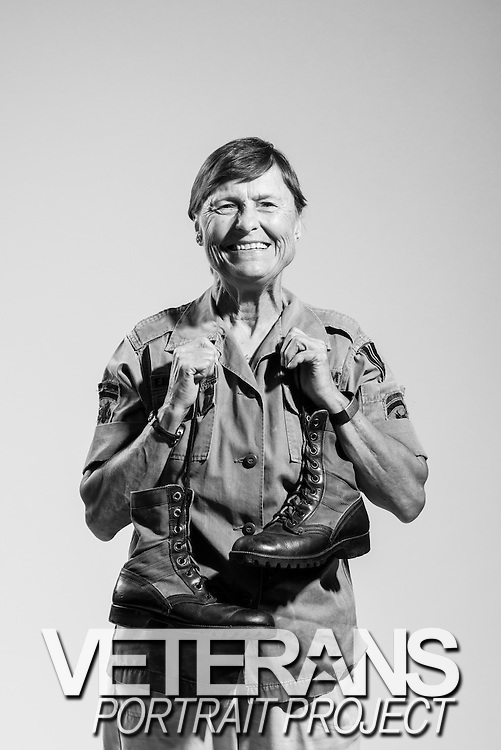 "Brenda Sue Caldwell was one of the 7,484 women who served in-country during the Vietnam conflict. From 1967 to 1970, Staff Sergeant Caldwell served as personnel management. She kept her old uniforms and jungle boots as mementos, which she cherishes today. ""I'm proud to have served,"" said Caldwell. ""Especially serving my country in Vietnam."""