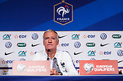PARIS, FRANKRIKE - 2016-11-10: Didier Deschamps under Franska fotbollslandslagets tr&auml;ning p&aring; Stade de France, Paris, den 10 november 2016.<br /> Foto: Nils Petter Nilsson/Ombrello<br /> ***BETALBILD***