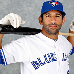March 2, 2012; Dunedin, FL, USA; Toronto Blue Jays right fielder Jose Bautista (19) poses for a portrait during photo day at Florida Auto Exchange Stadium.  Mandatory Credit: Derick E. Hingle-US PRESSWIRE
