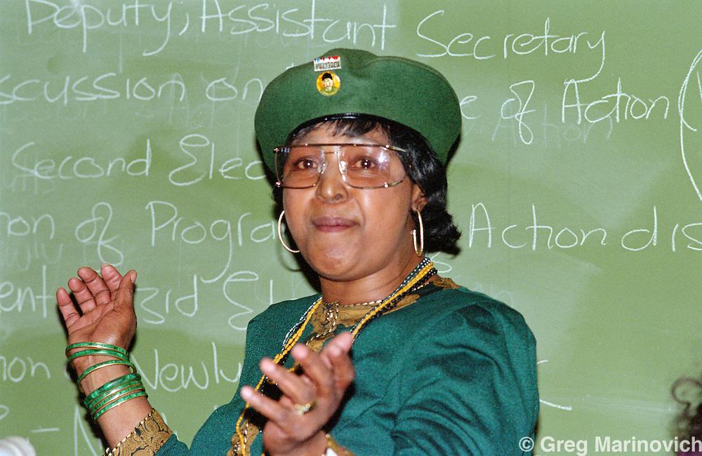Wimmie Mandela at ANC Women' League AGM