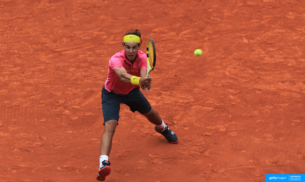 Rafael Nadal, Spain, in action during his loss to Robin Soderling, Sweden, during the round four match at the French Open Tennis Tournament at Roland Garros, Paris, France on Sunday, May 31, 2009. Photo Tim Clayton