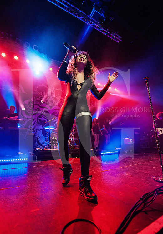 Ella Eyre performs on stage at The 02 ABC on October 7th, 2014 in Glasgow, United Kingdom. (Photo by Ross Gilmore)