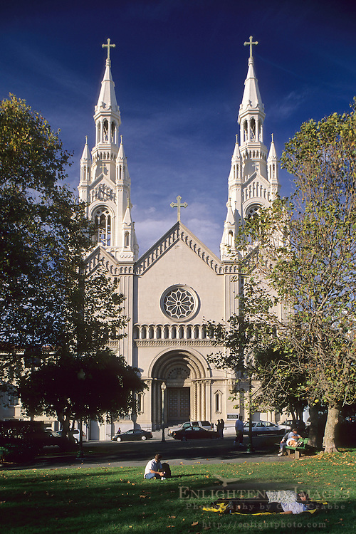 Sts. Peter & Paul's Church, Washington Square, North Beach, San Francisco, California