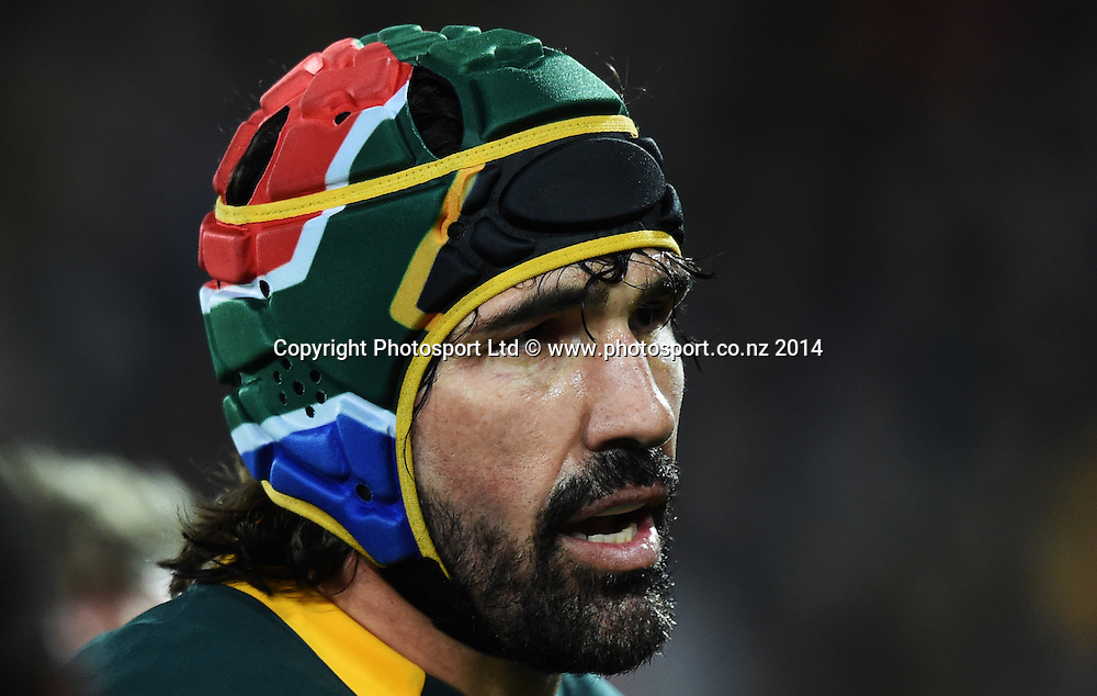 Victor Matfield. New Zealand All Blacks versus South Africa Springboks. The Rugby Championship. Rugby Union Test Match. Wellington. New Zealand. Saturday 13 September 2014. Photo: Andrew Cornaga/www.Photosport.co.nz