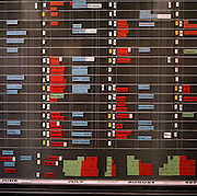 Detail of admin flight planning at the 'Red Arrows', Britain's Royal Air Force aerobatic team HQ at RAF Scampton.