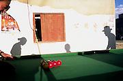 Playing pool in Lhasa, Tibet, 2007