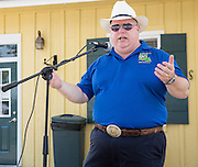 State of Louisiana Agriculture Commissioner Mike Strain speaks at the Abita Springs Farmers Market on August 7, 2016