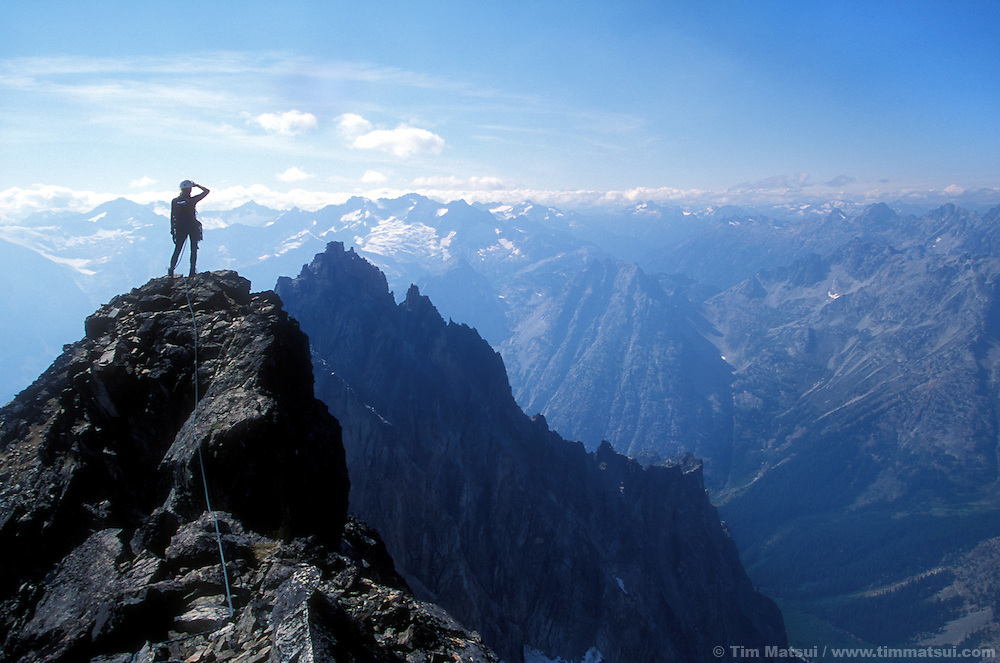 On top of Black Peak, North Cascades.